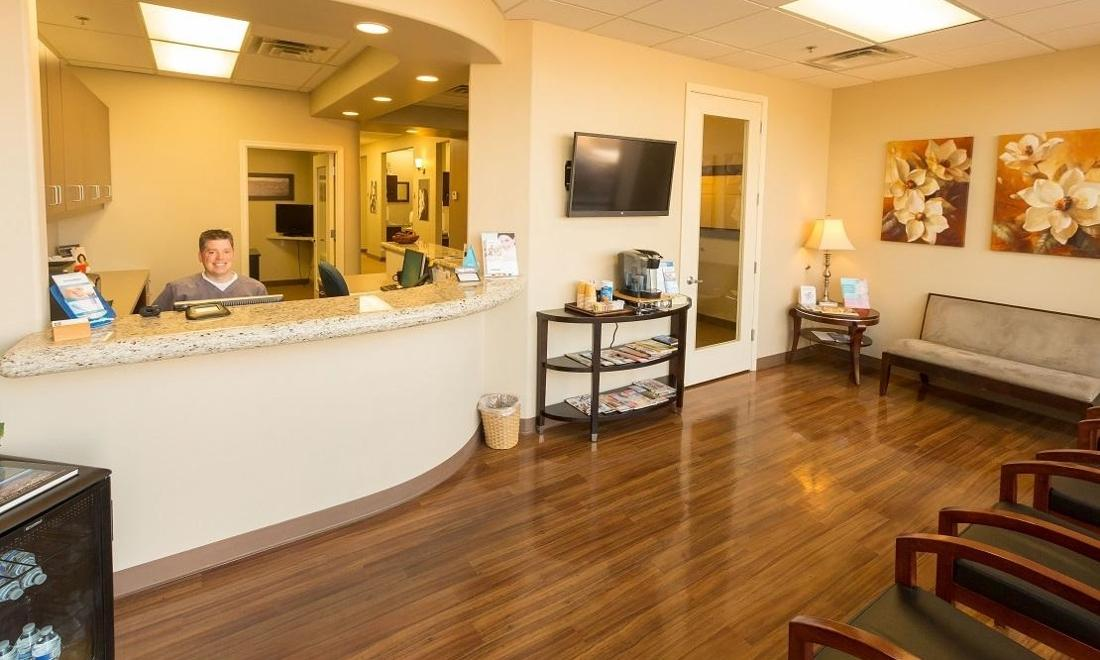 The waiting room at Arcadia dentistry in Phoenix